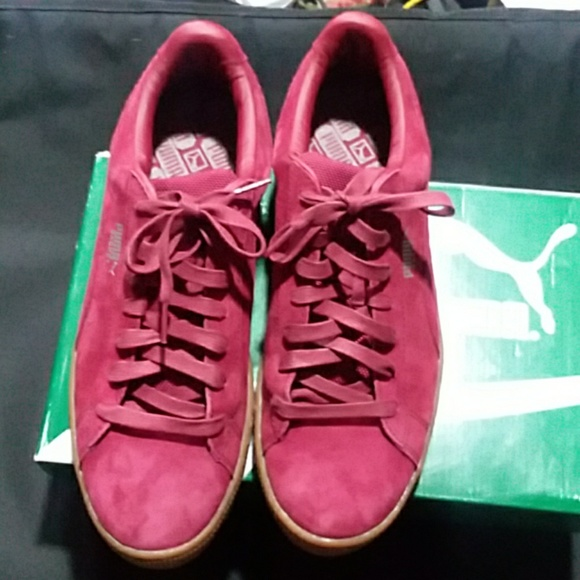new style ad98d b4171 Puma red suede shoes